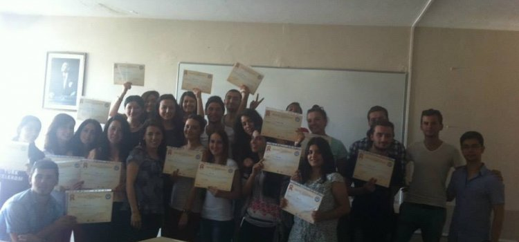 AST sertifika eğitimi tamamlandı